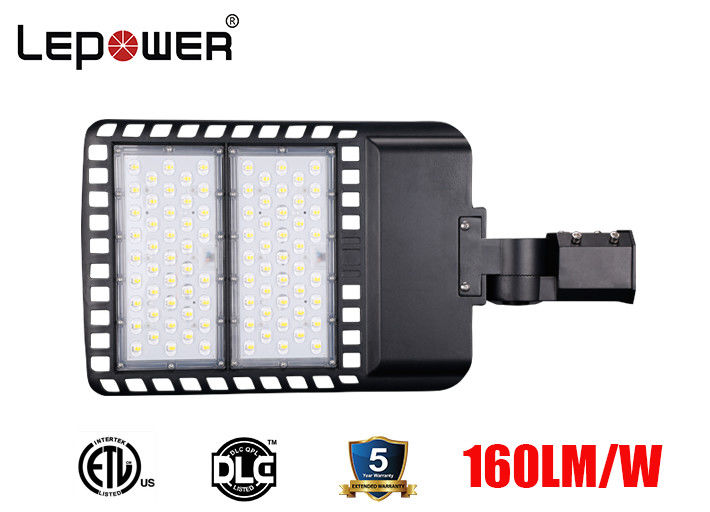 ETL DLC listed LED Car Parking Lamp 100W 120W 150W Dimmable with Lora system 155lm/w 5 years warranty for area lighting