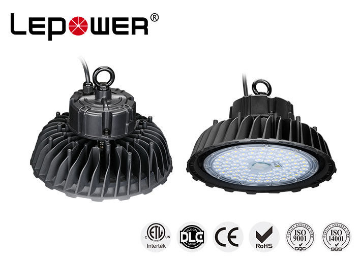 High Power Industrial UFO High Bay Light Efficiency 160lm/w 120° Alloy Aluminium Housing
